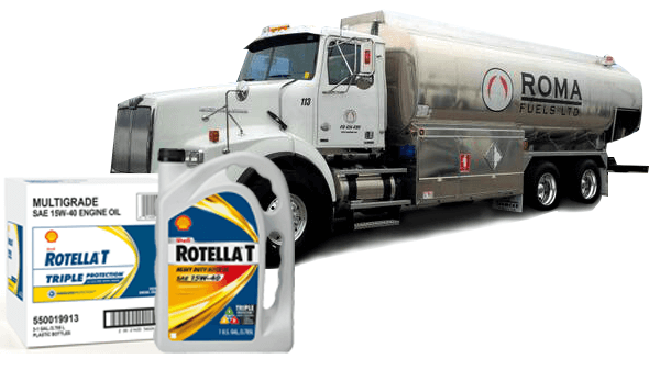 Roma Fuel Truck with RotellaT Products